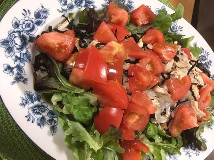 ひじき+ささみとトマトのサラダ ー貧血改善ー
