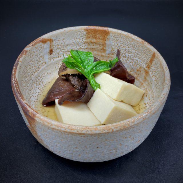 高野豆腐と黒きくらげの含め煮