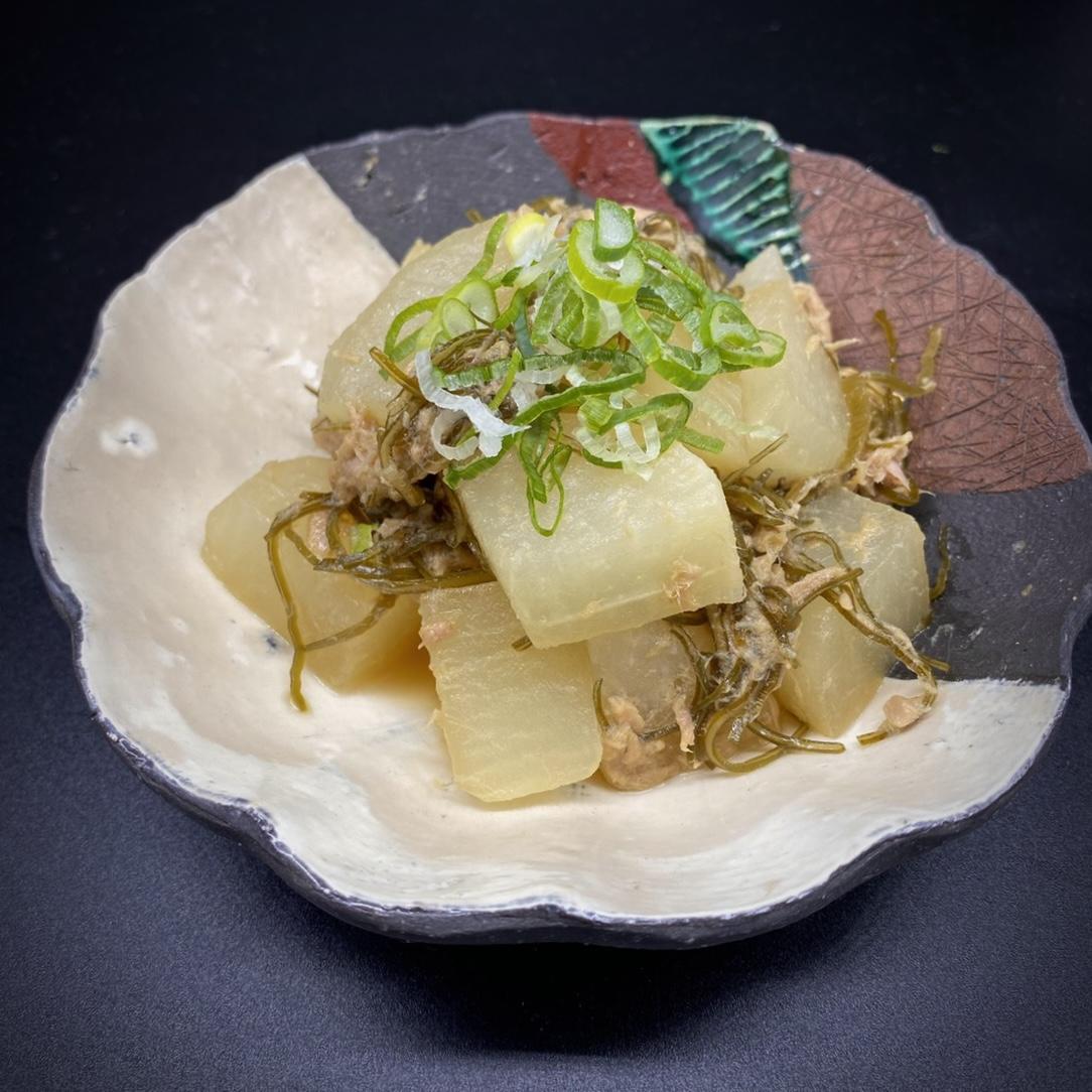 大根とツナ缶の昆布煮